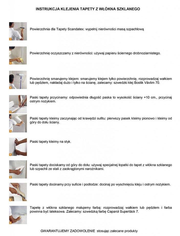 Instrukcja klejenia i malowania tapety z włókna szklanego mas